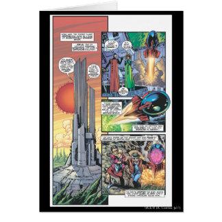 Carte Panneau comique de Superman - les origines de