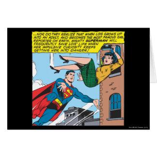 Carte Panneau comique de Superman - Lois économisant