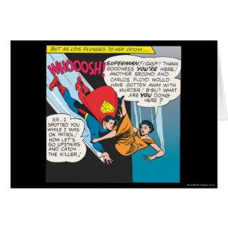 Carte Panneau comique de Superman - plongeons de Lois