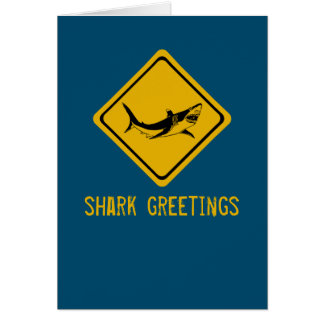 Carte panneau routier de requin