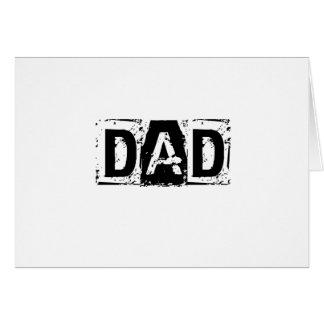 Carte Papa. Cadeau de fête des pères