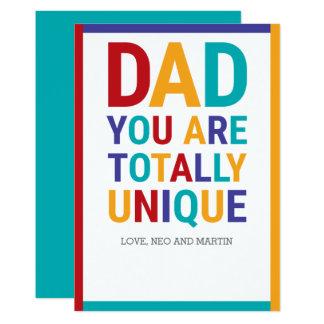 Carte Papa coloré