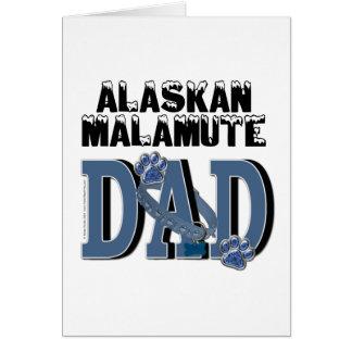 Carte PAPA de Malamute d'Alaska