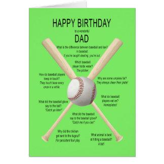 Carte Papa, plaisanteries de base-ball d'anniversaire
