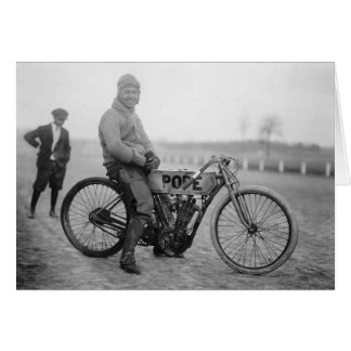Carte Pape Motorcycle Racer, 1915