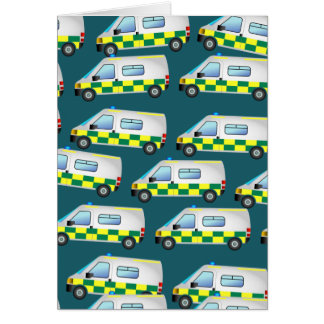Carte Papier peint d'ambulance