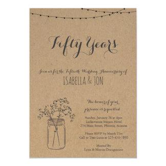 Carte Papier rustique de l'invitation   emballage de