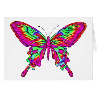 Carte Papillon dans les roses indien multi