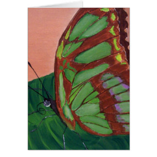 Carte Papillon de malachite - peinture acrylique