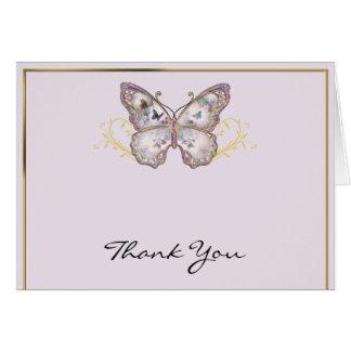 Carte Papillon de parties scintillantes sur le Merci de