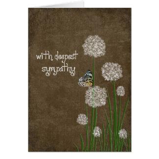 Carte Papillon sur la sympathie de fleur de souffle