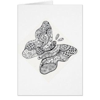 Carte Papillon tatoué