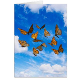 Carte Papillons de monarque dans le ciel