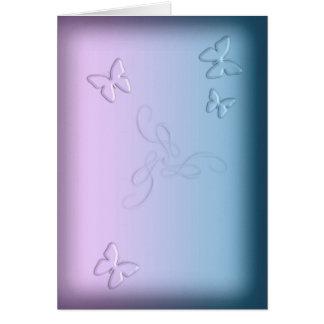 Carte Papillons en verre (portrait)