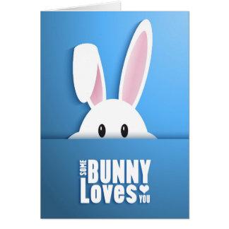 Carte Pâques - un certain lapin vous aime