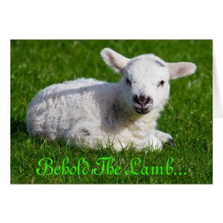 Carte Pâques voient l'agneau III