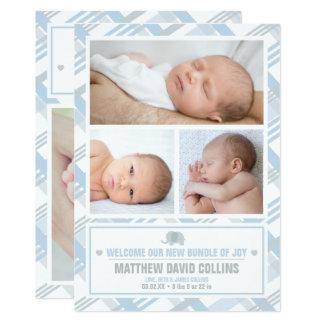 Carte Paquet de joie, annonces de naissance de garçon