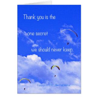 Carte Parachute ascensionnel #2 avec le poème : Aucun