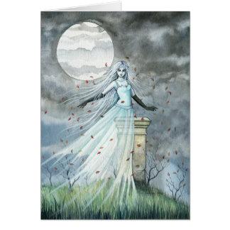 Carte paranormale gothique de Halloween de fantôme
