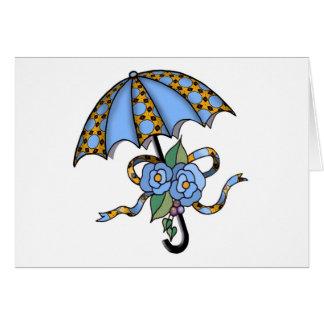 Carte Parapluie avec les roses 03