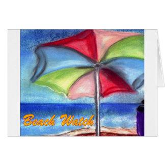 Carte Parapluie de montre de plage