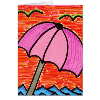 Carte Parapluie de plage