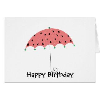Carte Parapluie de ressort de pastèque