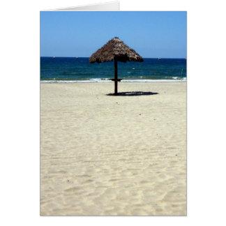 Carte parapluie de sable