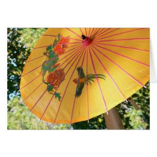 Carte parapluie pour des douches d'avril