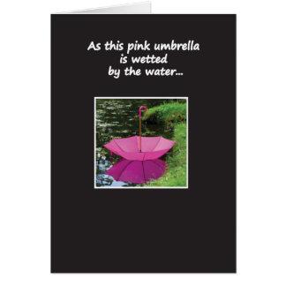Carte Parapluie sur l'eau