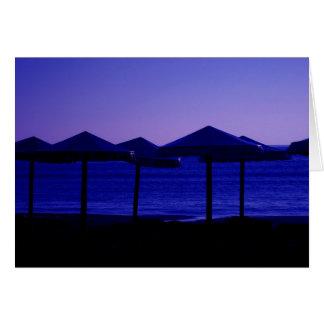 Carte Parapluies bleus
