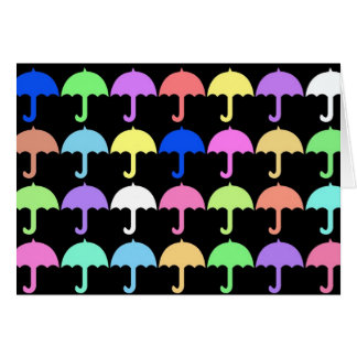 Carte Parapluies colorés