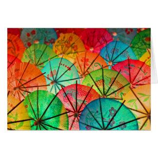 Carte Parapluies de cocktail