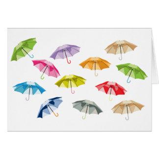 Carte Parapluies de ressort