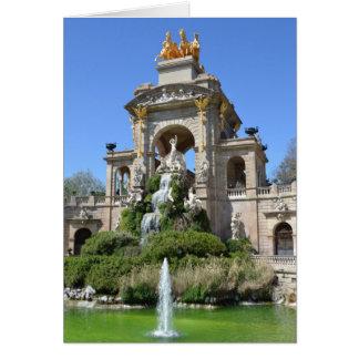 Carte Parc Ciutadella, Barcelone