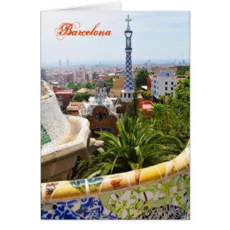 Carte Parc Guell à Barcelone, Espagne