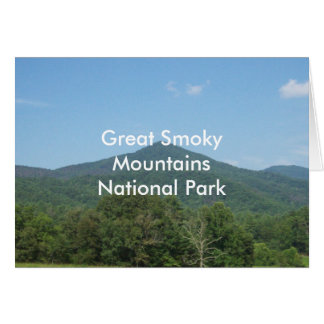 Carte Parc national de Great Smoky Mountains