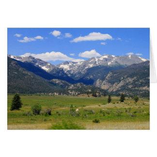 Carte Parc national de montagne rocheuse