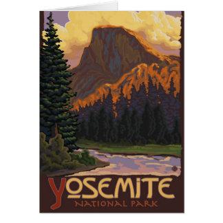 Carte Parc national de Yosemite - demi de dôme - cru
