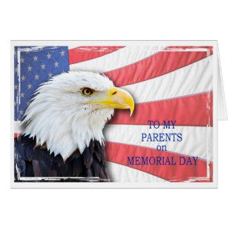 Carte Parents, Jour du Souvenir, un aigle chauve et