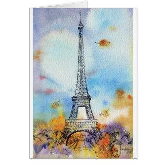 Carte Paris. Tour d'Eiffel