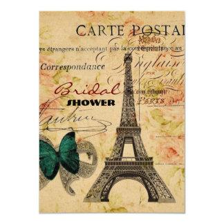 Carte Paris vintage scripts Tour Eiffel chic minable