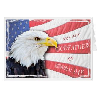 Carte Parrain, Jour du Souvenir, avec un aigle chauve