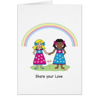 Carte Partagez l'amour - égalité pour tous