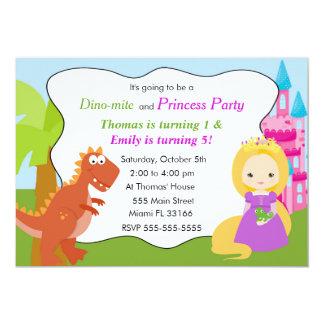 Carte Partie 1 d'anniversaire de enfant de princesse