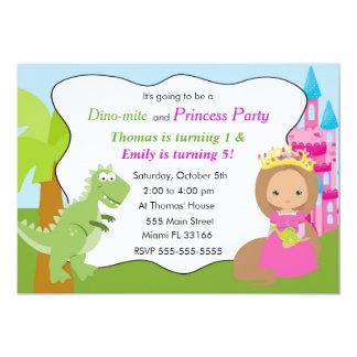 Carte Partie 2 d'anniversaire de enfant de princesse