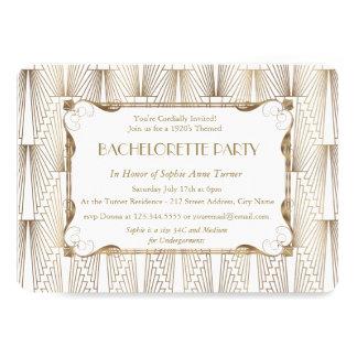 Carte Partie blanche de Gatsby Bachelorette des années