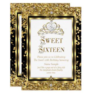 Carte Partie blanche noire d'or majestueux de princesse