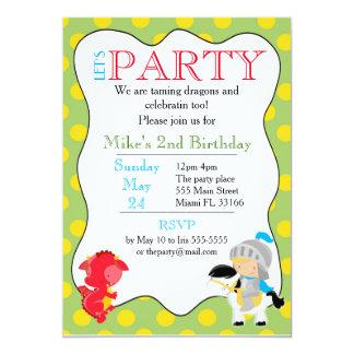 Carte Partie d'anniversaire de enfant d'invitation de