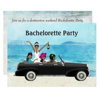 Carte Partie de Bachelorette de mariage de plage de